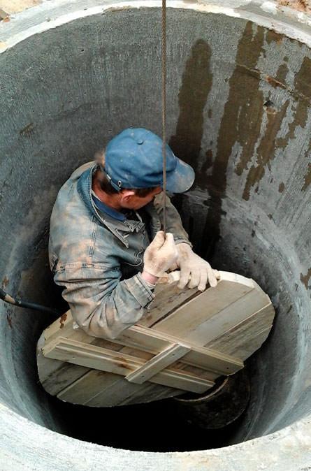 Как мы выполняем чистку колодца в Козлово