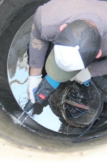 Как мы выполняем ремонт колодцев в Козлово
